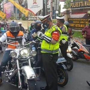Seminggu 400 Kendaraan Ditilang, Harley Davidson Tak Luput dari Razia