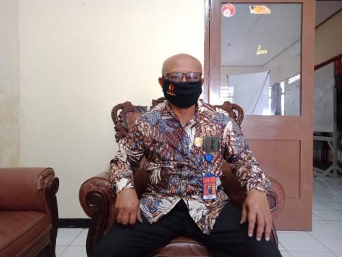 Koordinator Divisi Penanganan Pelanggaran Bawaslu Kabupaten Malang George da Silva saat ditemui awak media di Kantor Bawaslu, Selasa (21/7/2020).