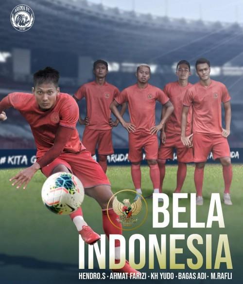 Lima pemain Arema FC yang dipanggil Timnas Indonesia (official Arema FC)