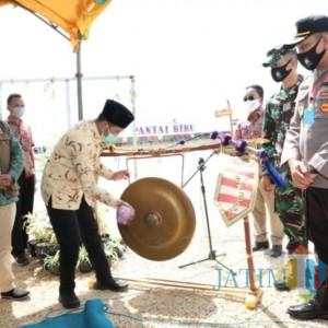 Bupati Bangkalan Resmikan Pantai Biru sebagai Wisata Tangguh Pertama