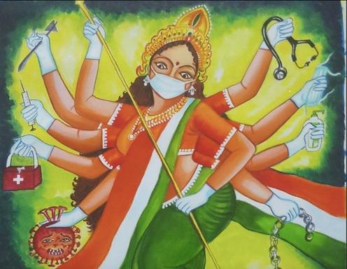 Lakukan Pemujaan pada Dewi Corona, Warga India Beri Persembahan Tiap Senin dan Jumat