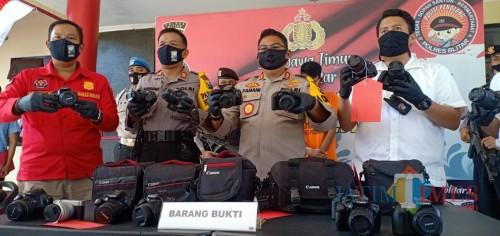 Gasak 16  Kamera DLSR, Warga Garum Blitar Diringkus Polisi
