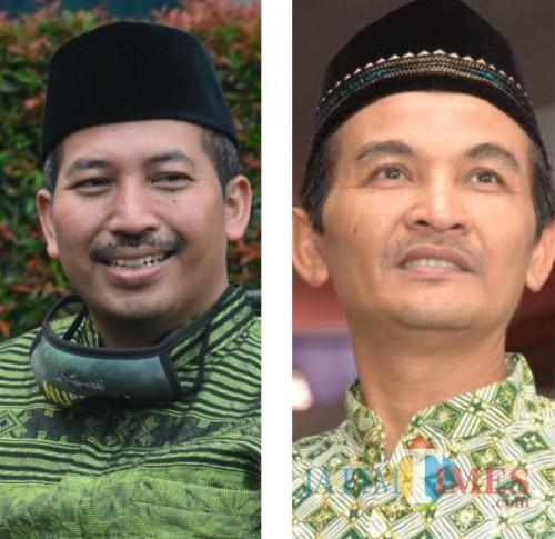 Kiri: dr. Umar Usman (Ketua PCNU Kab. Malang), kanan: Drs Mursidi (Ketua PDM Kab. Malang). (Istimewa)
