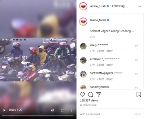 """Video Viral Petugas ATCS Bandung Tiru Gaya Ayu Ting Ting """"Akang Gendang"""" Tegur Pelanggar"""