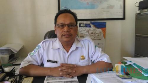 Kepala Stasiun BMKG Karangkates, Musripan saat ditemui oleh awak media. (Foto: Musripan for MalangTimes)