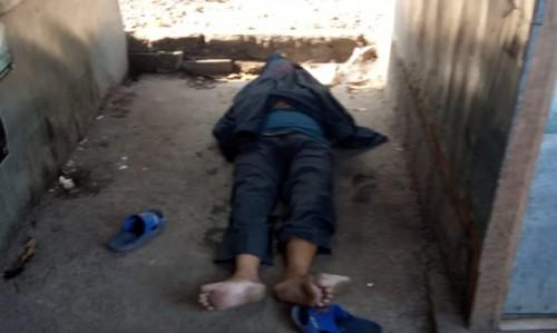 Korban yang sudah tergeletak tak bernyawa di kawasan Pasar Comboran (Ist)