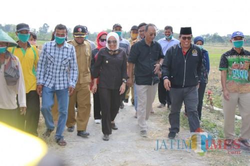Rombongan bupati Bojonegoro dan ketua DPP PDI Perjuangan.