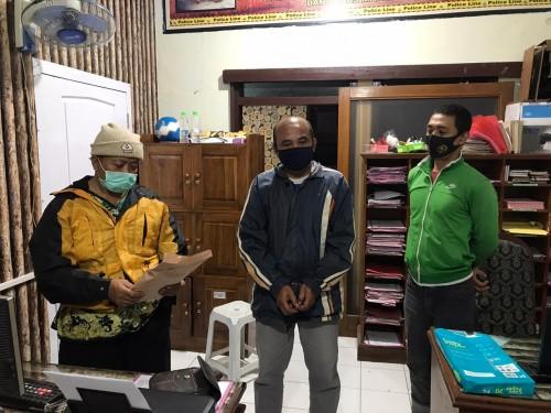 Polsek Dampit amankan tersangka pengepul togel (istimewa)