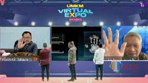 UMKM Virtual Expo 2020 yang berlangsung di gedung Bank Indonesia, Kediri. (ist)