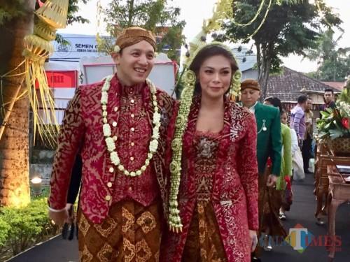 PernikahanMoreno Soeprapto bersama Noorani Sukardi saat digelar di Kota Batu. (Foto: Irsya Richa/ MalangTIMES)