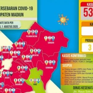 Pasien Positif Covid-19 di Kabupaten Madiun Bertambah 3 Orang, Total 53