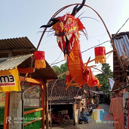 Ada Naga Merah di Grudo yang Siap Sambut Perayaan Kemerdekaan RI