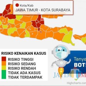 Bersumber dari Website Error, Pernyataan Risma Surabaya Zona Hijau Menyesatkan