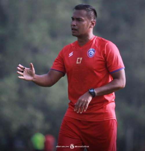 Asisten pelatih Arema FC, Charis Yulianto (official Arema FC)
