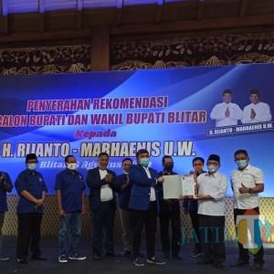 Koalisi dengan PDIP, Nasdem Resmi Dukung Rijanto-Marhaenis di Pilbup Blitar 2020