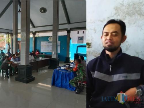 Kiri situasi saat Mediasi dan Klarifikasi, kanan Wiwik Agung Suryanto sekdes Ngrejo / Foto : Istimewa / Tulungagung TIMES