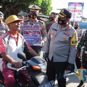 Forkopimda Tulungagung Launching Jatim Bermasker di Pasar Senggol Bangoan