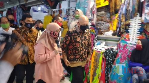 Mentri KUMKM Mengunjungi Pasar Bringharjo Jogja 5/8/2020