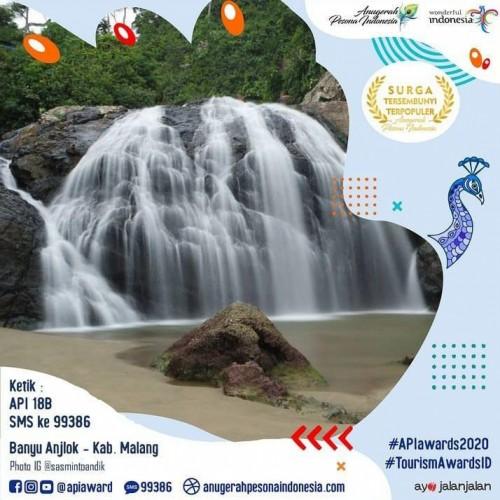 Wisata Banyu Anjlok yang masuk nominasi surga tersembunyi terpopuler API Award 2020. (Foto: Instagram APIaward)