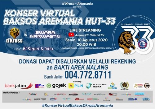 Aremania Sebut Konser Virtual d'Kross Bisa jadi Teladan Suporter se-Indonesia