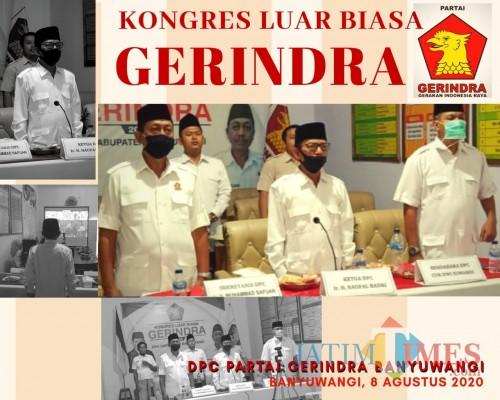 DPC Partai Gerindra Banyuwangi Usulkan Prabowo Jadi Capres