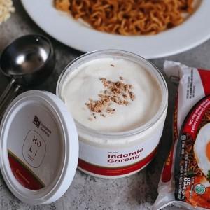 Varian Es Krim Terbaru Rasa Indomie Lengkap dengan Taburan Bawang Goreng, Minat Beli?