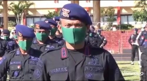 Kapusdik Brimob Polri, Kombes Pol Almas Widodo Kolopaking saat beri ucapan HUT Arema ke-33 (potongan video)