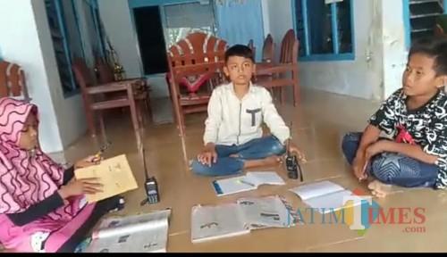 Kesulitan Belajar Jarak Jauh, Siswa Madrasah di Pamekasan Manfaatkan Frekuensi RAPI