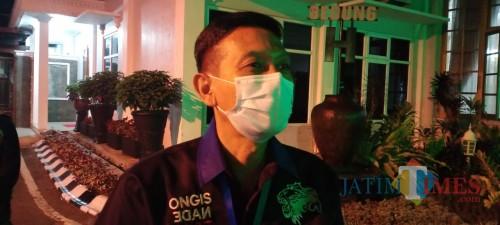 Sekda Kabupaten Malang, Wahyu Hidayat saat dikonfirmasi soal adanya salah satu ASN di Kabupaten Malang yang dinyatakan positif covid-19