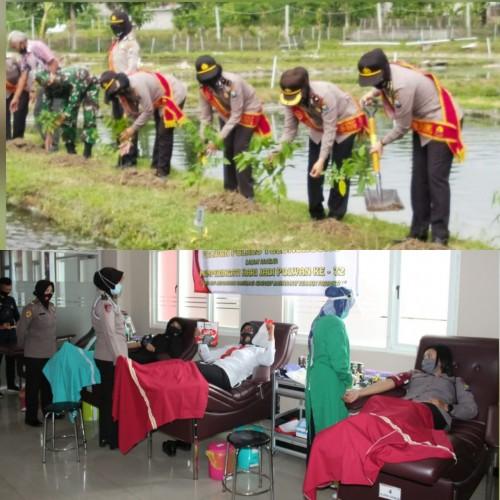 Serunya Giat Hari Jadi Polwan K- 72 di Tulungagung, Tabur Benih Ikan hingga Donor Darah