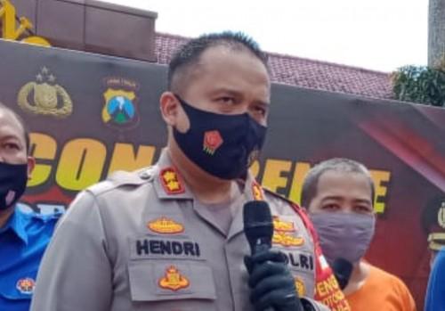 AKBP Hendri Umar, Kapolres Malang yang ditemui awak media saat rilis, Rabu (12/8/2020). (Foto: Aldi Nur Fadil/ MalangTIMES)