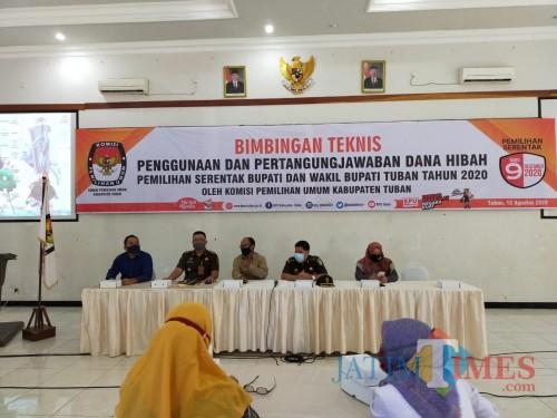 Agenda yang diselenggarakan di Gedung Pertemuan Ruang Cempaka KSPKP Tuban(8/12/2020).