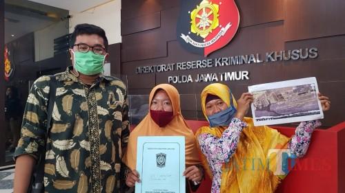 Istri Almarhum Salim Kancil Jadi Saksi Atas Laporan PT. LUIS kepada Bupati Lumajang