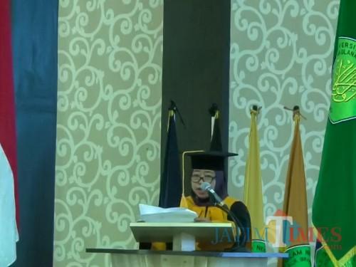 Guru Besar Dalam Bidang llmu Biologi Fakultas Saintek UIN Malang, Prof Dr drh Hj Bayyinatul Muchtaromah MSi. (Foto: Ima/ MalangTIMES)