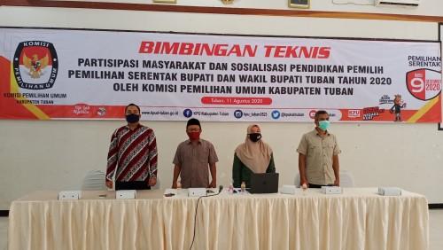 Targetkan 77,5% Partisipasi Pemilih, KPU Tuban Soroti Budaya Telat PPK