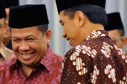 Fahri Hamzah dan Presiden Joko Widodo (Foto: Gelora News)