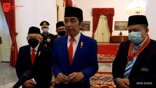 Jokowi bersama Fadli Zon dan Fahri Hamzah. (Foto; YouTube Sekretariat Presiden)