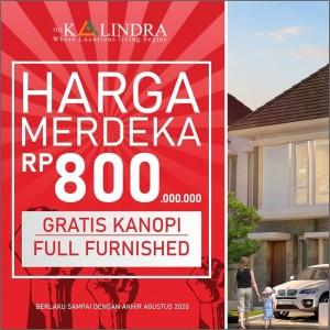 Harga Merdeka! Town House The Kalindra Cuma Rp 800 Juta Sudah Fully Furnished