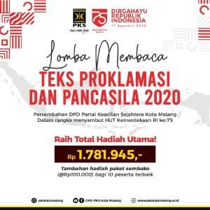 Sambut HUT RI, DPD PKS Gelar Lomba Baca Teks Proklamasi Berhadiah Utama Rp 1,7 Jutaan