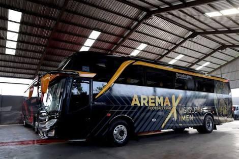 Bus baru Arema FC (Istimewa)