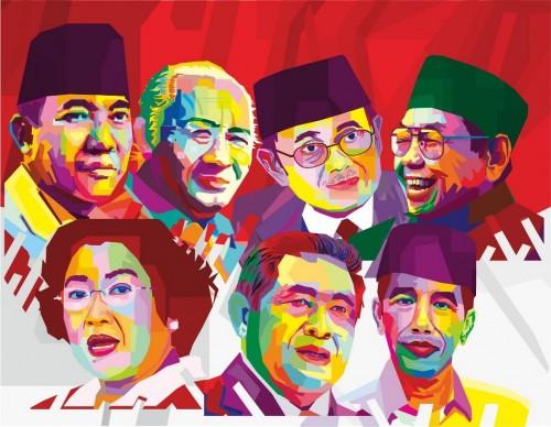 Tujuh presiden Republik Indonesia (Foto: Pemimpin.ID)