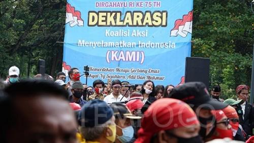 Deklarasi Koalisi Aksi Menyelamatkan Indonesia (KAMI) di Jakarta 18 Agustus 2020. (Foto: Tempo.co)
