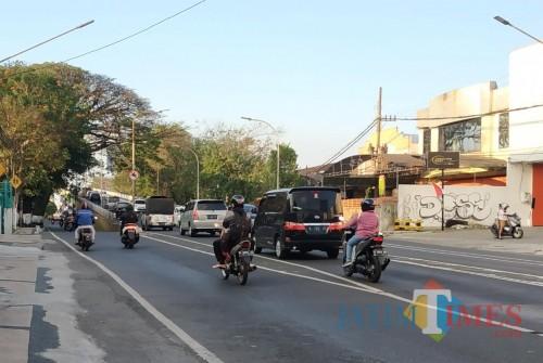 Suasana Jalan Ahmad Yani saat Kamis (20/8/2020) sore hari (Hendra Saputra)
