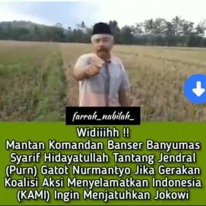 Viral, Mantan Komandan Banser Tantang Jendral (Purn) Gatot Nurmantyo
