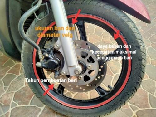 Kode pada ban motor (Anggara Sudiongko/MalangTIMES)