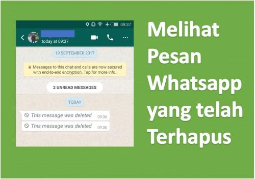 Penasaran Baca Pesan WhatsApp yang Sudah Dihapus Pengirim? Coba Cara ini