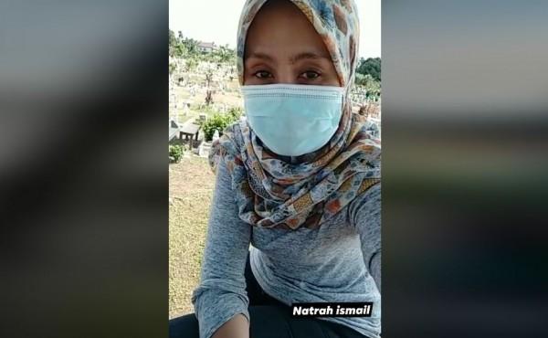 Video rekaman suara dari alam kubur (Foto: Facebook Natrah Ismail)