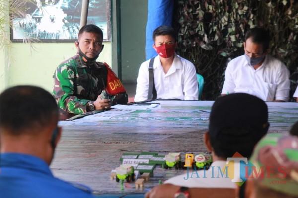 Dandim 0808/Blitar Letkol  Arh Dian Musriyanto memimpin langsung latihan TFG