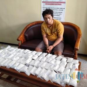 Cokok 4 Pengedar Narkoba, Polres Blitar Kota Amankan 16 Poket Sabu