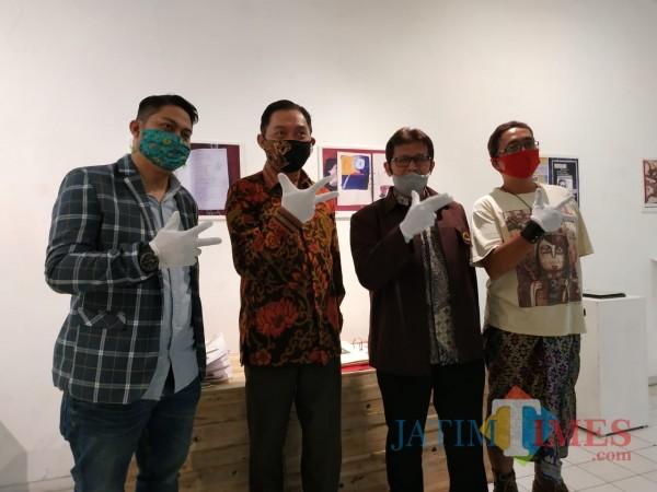 Dari kiri: Ketua MCF Vicky Arief, Direktur Bank Indonesia Kpw Malang Azka Subhan, Pembina DKM Joko Saryono dan Ketua DKM Bobby (Hendra Saputra)